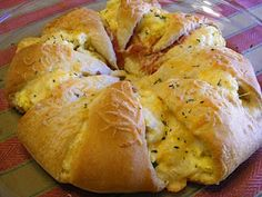 Bacon Egg & Cheese in crescent rolls