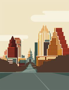 A poster for a SxSW trip that is part of a series of travel posters.