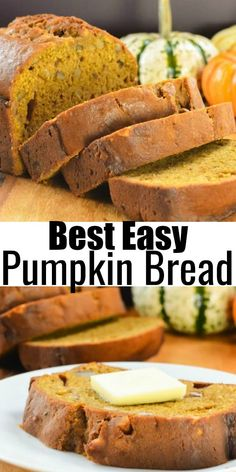 Best Easy Pumpkin Bread recipe is a delicious moist loaf of Pumpkin Bread everyone loves! It's so good! Perfect for breakfast, snacking or dessert from Serena Bakes Simply From Scratch.