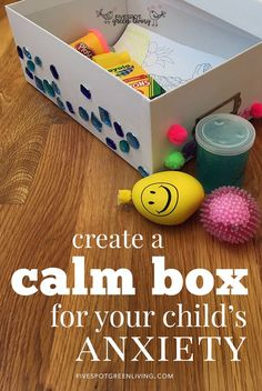 most up-to-date pictures Health for kids ideas work, Create a calming box to help your anxious child or anxious children in your class. Discover how a calm box can help kids with their anxiety and worrie. Mental Health Activities, Emotions Activities, Calming Activities, Activities For Kids, Sensory Activities, Calm Down Box, Calm Box, Sensory Boxes, Sensory Tubs