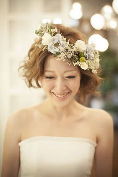 Images: Wedding Dresses Hen Dare You Want to Cut Hair … - All The World Wedding Ideas Dress Hairstyles, Wedding Hairstyles, Flower Crown Wedding, Linens And Lace, Hair Ornaments, Her Hair, Bridal Hair, Wedding Styles, Wedding Ideas