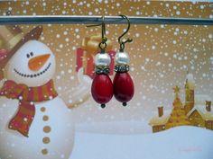 Ho Ho Ho!  - rode oorbellen van CindyrellaJewels op DaWanda.com