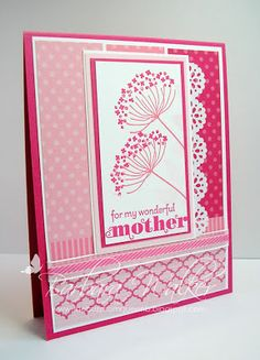 The Buzz: Mother's Day Card ~ Pink. It's Mother's Day card week.