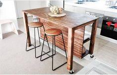 handmade island bench Decor, Furniture, Bar Table, Table, Home Decor, Kitchen, Bench, Island Bench