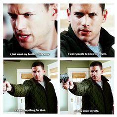 because Michael is bae #PrisonBreak #2x17