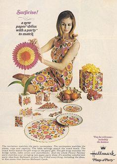 Hallmark Flower Fantasy Paper Dress advertisement, 1967.