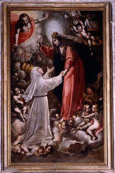 Rutilio e Domenico Manetti, Santa Caterina accolta dalla Madonna in Paradiso e presentata a Gesù Cristo, 1638.
