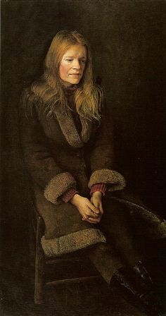 Andrew Wyeth - 'Sheepskin' 1973, tempera on panel by Plum leaves, via Flickr