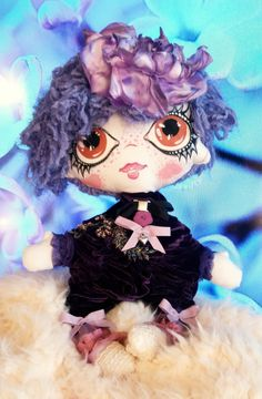 TootsieDOLL Baby METTE/Art doll/Handmade dolls/OOAK/Christmas/Collectible dolls/ violet doll/Rag dolls/Fashion dolls by TootsieDollsByTeo on Etsy Handmade Dolls, Handmade Gifts, Rag Dolls, Fashion Dolls, Trending Outfits, Unique Jewelry, Christmas, Baby, Anime