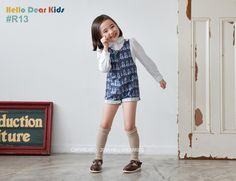 (9) Name: 'Sewing : short button overalls , sizes 6M to 10