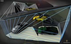 Car Showroom Design for Lamborghini | Flickr - Photo Sharing!