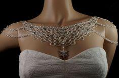 Colgante de plata copo de nieve  cristal checo del collar de