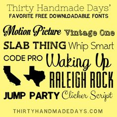 Free Fonts Just In Time for Summer!  ~~ {10 Free fonts with easy links} ~~