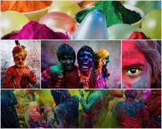 http://pictographe.blogspot.fr/2011/02/holi-la-fete-des-couleurs.html    Holi, appelée aussi fête des couleurs ou Phâlgunotsava - est la fête hindoue de l'équinoxe de printemps. Elle est fêtée dans toute l'Inde durant deux jours au cours de la pleine lune, vers février-mars. A l'origine, la célébration de cette fête était associée aux moissons fructueuses et à la terre fertile.