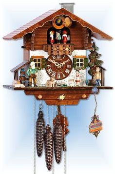 Schneider | mt-1337/9 | 11''H | Grandfathers Farm | Chalet style | cuckoo clock | full view