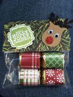 Stampin up! Rudolph Hershey's Nuggets treats