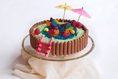 Australian Womens Weekly Swimming Pool Cake