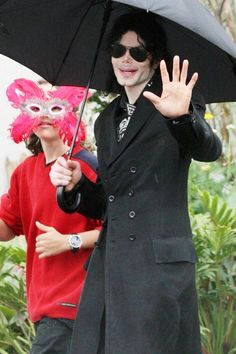 Michael Jackson with his 12-year old son Prince Michael, 3rd June 2009.