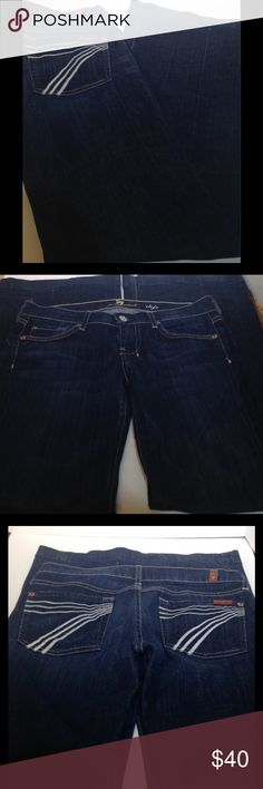 7 for all mankind dojo 27 7 for all mankind dojo 27 Inseam 34 inches No holes or stains. Smoke free. 7 For All Mankind Jeans Flare & Wide Leg