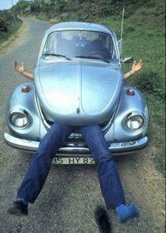 vw beetle with a sense of humor!  (Hungry, hungry, bug-o!)