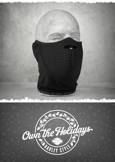 Don't expect Mother Nature to play nice with the weather forecast. | Harley-Davidson Men's Wind-Resistant Fleece/Neoprene Face Mask