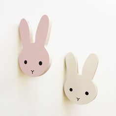 That's Mine - Rabbit Timber Wall Hooks (assorted colours) | Room to Decorate | Scandinavian and vintage designed homewares - Online shop
