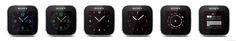 Sony SmartWatch clock faces