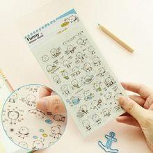 3 teile/paket Kawaii Tier Bär PVC Memo Sticker Niedlich Zeichnung Markt Tagebuch Transparent Scrapbooking Kalender Album Deco Aufkleber(China (Mainland))