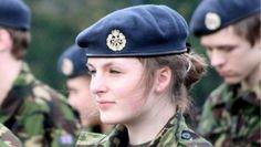 Soldado mulher. Reino Unido.