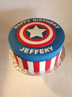 Captain America Cake Im thinking for my birthday lol Cakes