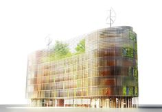 Love this!!! Vertical Farm Project by SOA Architects via Discover Magazine  #Agriculture #Vertical_Farm #SOA_Architects
