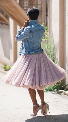 awesome Jupon en tulle : Light Pink Pleated Tulle Skirt