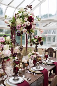 #marsala #falltrends #wedding #pantonecolor // Venue: Buhl Mansion Guesthouse…