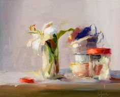 ©Christine Lafuente Pansies and Lemon Tree +6 White Irises on a Blue Cloth Baby Lemon Tree and Pansies White Irises and Mandarin Oranges Crocus in a Glass Easter Tulips and Globe Lily, Teacups, Jelly Jars
