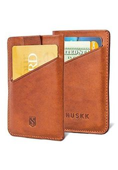 The Huskk Slim Card Sleeve Wallet combines minimalism with classic style. It is best for carrying a few bills and up to 8 cards.