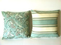 Hey, I found this really awesome Etsy listing at https://www.etsy.com/listing/123099746/aqua-throw-pillow-covers-set-of-two