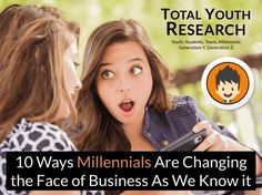 10 Ways Millennials Are Changing the Face of Business - Total Youth Research
