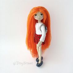 Amigurumi red head doll.(Inspiration).