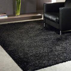 Twilight rugs 39001 3333 black shaggy