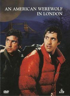 """dos amigos con la maldicion de la licantropia en """"Un hombre lobo americano en Londres"""""""
