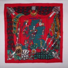 Hermès Foulard Carré Scarf Square «Scotland» 90cm Ledoux Comme Neuf TRÈS Rare | eBay