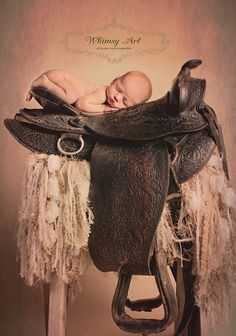 Ride 'em, Cowboy!  Just a few more years until this little one is ready to get to saddle up! ;)  Neutral Fringe Baby Blanket Yarn Photography Prop by BabyBirdz 95.00