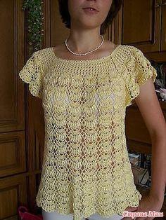 Dos modelos de blusas de la web con esquemas, para que se animen a tejerlas.     Gracias por visitar el blog.     ¡Feliz Tejido!