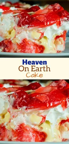 INGREDIENTS store-bought angel food cakes, or homemade 1 oz.) can cherry pie filling, divided 1 oz. Cheesecakes, Oreo, Cupcake Recipes, Dessert Recipes, Dessert Ideas, Earth Cake, Cake Chocolat, Yummy Cakes, Easy Desserts