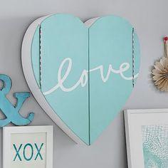 Lovely Heart Jewelry Wall Cabinet #pbteen