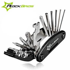 Rockbros 16 in 1 Bike Bicycle Multi Repair Tool Set Kit Hex Spoke Cycle Screwdriver Tool Wrench Mountain Cycle Tool Sets Black