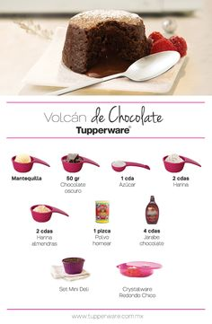 Volcán de Chocolate Tupperware
