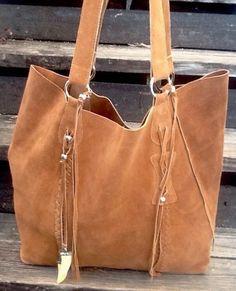 Raj Shoulder Large Shopper Tote Brown Suede Kangan Tassel Silver Hardware Euc! in Clothing, Shoes & Accessories, Women's Handbags & Bags, Handbags & Purses | eBay