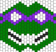 Donatello Surgical Mask Bead Pattern