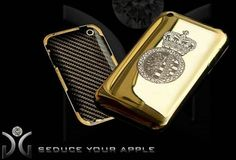 This iPhone case contains 140 grams of 18-carat gold as well as 200 diamonds and a logo which features 40 extra diamonds on it's own.